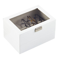White Classic Stackers Lidded Eyewear Storage Box