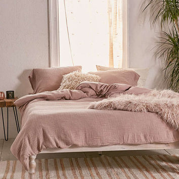Crinkle Gauze Duvet Cover - Urban Outfitters