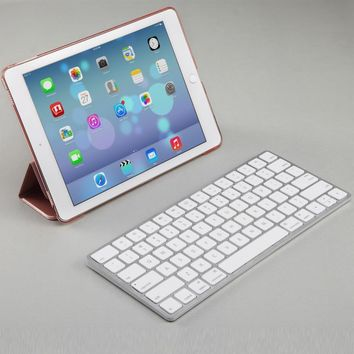 Universal Wireless / Wired Aluminum Keyboard, for All, iOS(Mac),