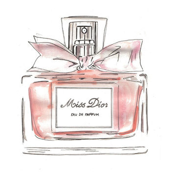 Miss Dior perfume bottle Art Print by Christy McCormick | Society6