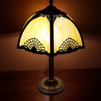 1920s Slag Glass Lamp - Flawless
