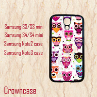Samsung Galaxy Note 3 case,S3 mini case,Samsung S4 mini,Samsung Galaxy S4,Samsung Galaxy S3,Samsung Galaxy Note 2--cute owl,in plastic.