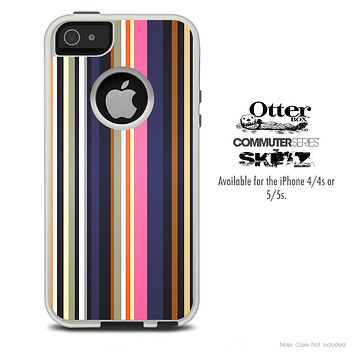 The Solid Colored Stripes V3 Skin For The iPhone 4-4s or 5-5s Otterbox Commuter Case
