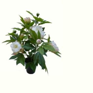 "30.5"" White Artificial Three Stemmed Potted Flowering Orchid Plant"