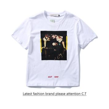 Cheap Women's and men's OFF-WHITE t shirt for sale 85902898_0200