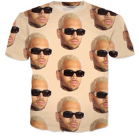 Chris Brown Glasses T-Shirt