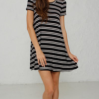 Double Striped T-Shirt Dress