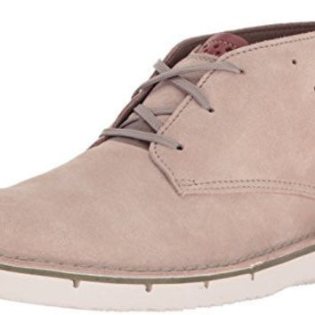 CLARKS MENS CAPLER MID CHUKKA BOOT, SAND SUEDE, 13 M US