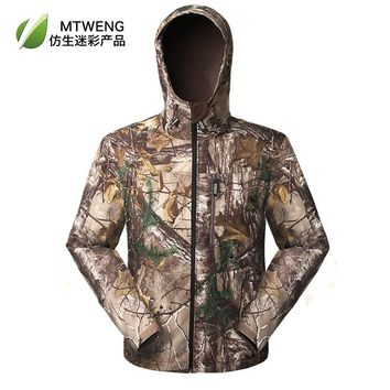 Fall Winter Composite Fabrics Windproof Waterproof Camouflage Hunting is mainly shark leather bionic camouflage camouflage costu