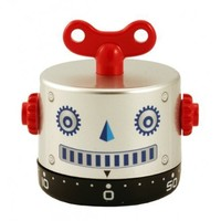 Robob Robot 60-Minute Kitchen Timer - Assortment (Blue, Gold or Silver)