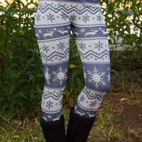 Up to Snow Good Leggings - Periwinkle