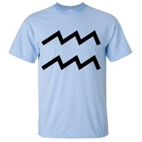Aquarius Astrology Symbol Asst Colors T-shirt/tee