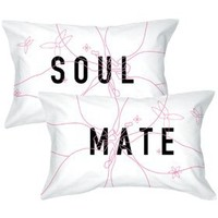 "BoldLoft ""Soulmate"" Pillowcase Set-Romantic Valentine's Day Gifts for Couples,Cute Valentine's Day Gifts for Him or Her,Valentines Day Gift Ideas"