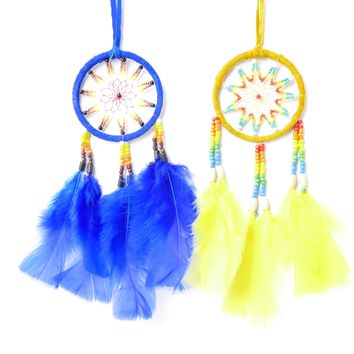 "10 Assorted Beaded Dream Catcher Ornament Ring Diam 3"" Great For Car, Truck, Boat, Bedroom, Work Cubicle ( Unit Price $ 4.50)"