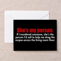 She's My Person Greeting Card> Grey's Anatomy TV Store