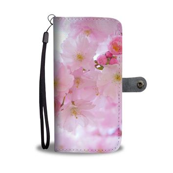 Japanese Cherry Blossoms Wallet Cellphone Case
