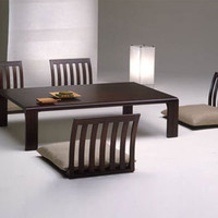 Floor Furnitures: Japan-Style Dining Room Tables & Chairs | Designs & Ideas on Dornob