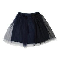 Le Petit Coco Two Tone Navy/Black Tulle Skirt
