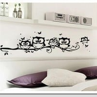 Owl Butterfly Wall Sticker for home decor