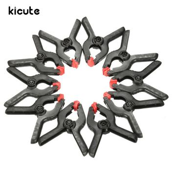 Kicute 10pcs 65mm Paper Clips Clamps Clips Peg Clips Background Photo Studio Light Backdrop Support Holder Clips School Supply