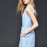 Tencel® chambray shirtdress