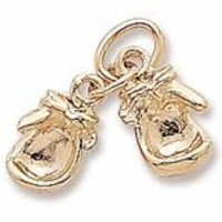 Boxing Gloves Charm In Yellow Gold