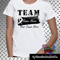 Lung Cancer Personalize Shirts Add Team Name and Cause (Bone Cancer, Mesothelioma, SCID, Scoliosis and More)