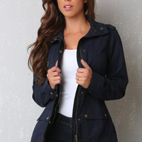 RESTOCK Keep Me Warm Blue Jacket