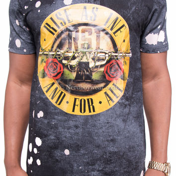 Guns and Roses Paint Splatter Concert Tour Shirt