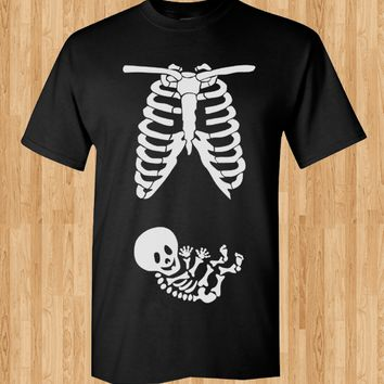 Trendy Pop Culture Maternity Leave pregnant pregnancy baby shower skeleton newborn baby Tee T-Shirt Ladies Youth Adult Unisex