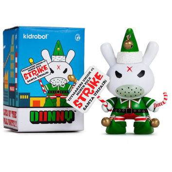 "Kozik Holiday Grumpy Elf 3"" Dunny"