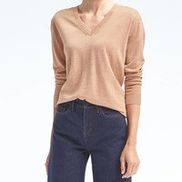 Washable Merino Boyfriend Vee | Banana Republic
