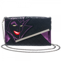 Disney Malificent Envelope Wallet with Chain