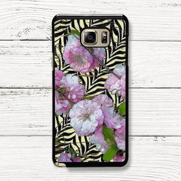 Funky Zebra & Prunus Samsung Galaxy Case, iPhone 4s 5s 5c 6s Cases, iPod Touch 4 5 6 case, HTC One case, Sony Xperia case, LG case, Nexus case, iPad case, Cases