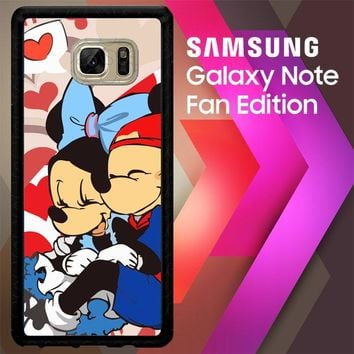 Hugs And Kisses Mickey Minnie Mouse C0043 Samsung Galaxy Note FE Fan Edition Case