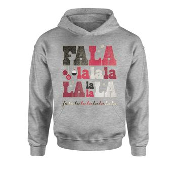 Fa La La Holiday Shirt Youth-Sized Hoodie