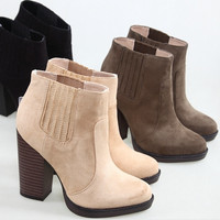 Fashion Short Suede Ankle Boots