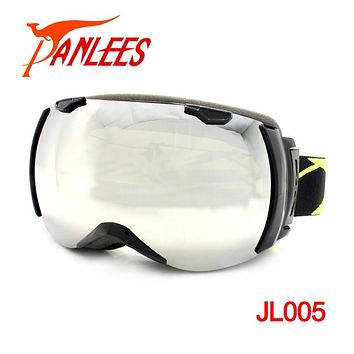 Panlees 2017 New Arrival Dual Lens UV400 Anti-fog Mirrored Snowboard Goggles Snow Goggles Winter Sun Glass Free Shipping