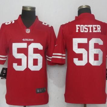 Nike San Francisco 49ers 56 Foster Red 2017 Vapor Untouchable Limited Player