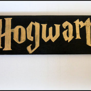 Hogwarts Sign, Harry Potter Sign, Door Sign, Geek Art, Fan Art, Hogwarts, Sign