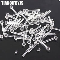 TianciFBYJS Refaxi 10Pcs Acrylic Plastic Body Piercing Jewelry Clear Nose Studs Retainers Ball End Piercing Nose pin Nose