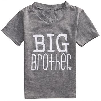 New arrival fashion Summer Big Little Brother Printed Kids Baby Boys T-shirt Romper Toddler Clothes