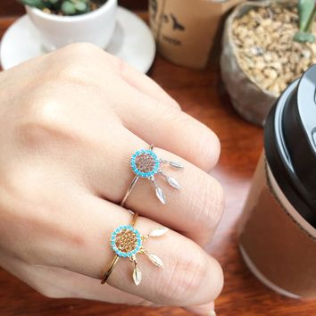 Dreamcatcher Turq Ring