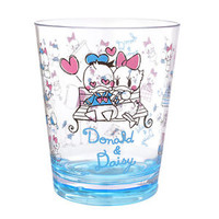 Donald & Daisy Acrylic Cup Graffiti Clear ❤ Disney Store Japan