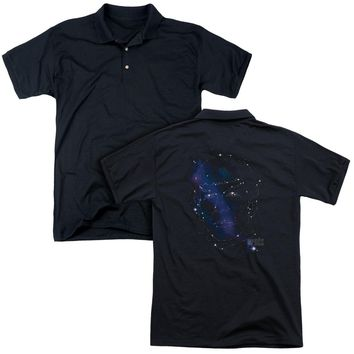 Star Trek - Spock Constellations (Back Print) Mens Regular Fit Polo