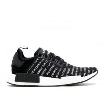 CREYGE2 Beauty Ticks Adidas Nmd R1 Three Stripes Black White Sneakers Sport Running Shoes