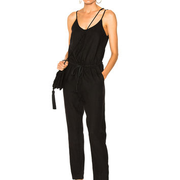 Enza Costa Strappy Jumpsuit in Black | FWRD