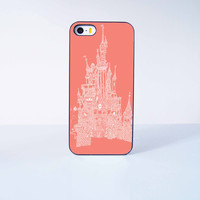 Disney Castle Plastic Case Cover for Apple iPhone 5C 6 Plus 6 5S 5 4 4s
