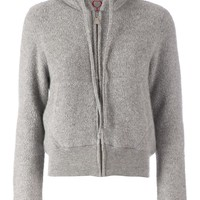 Side Slope hooded cardigan