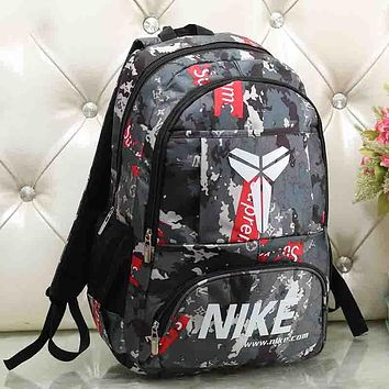 NIKE Woman Men Fashion Print Backpack Bookbag Shoulder Bag